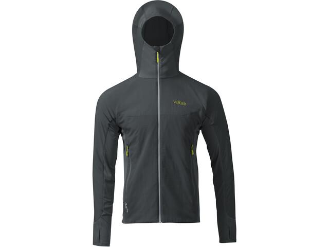 Rab Alpha Flux Fleece Jacket Men beluga/beluga/ash
